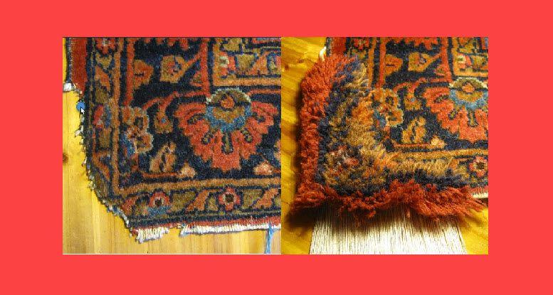 restauração de tapete