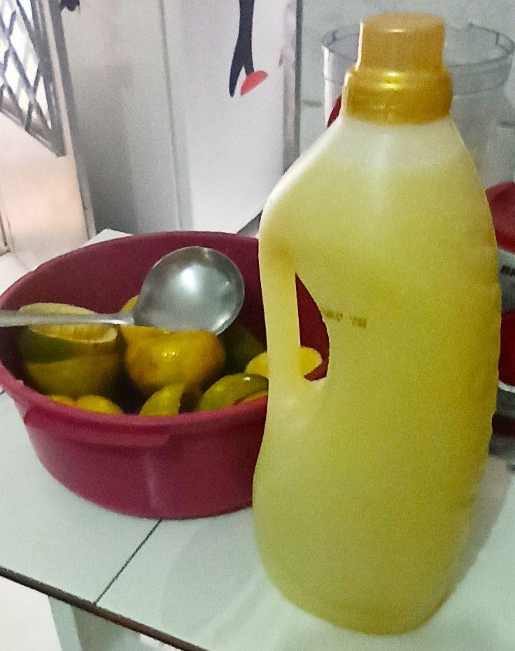 Desinfetante caseiro de casca de laranja
