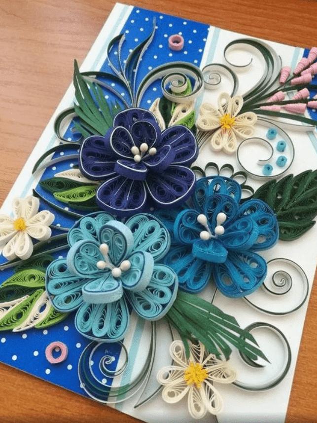 Lindos trabalhos feitos com papel