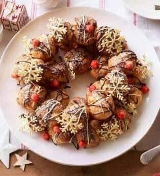Guirlanda comestível para enfeitar a sua mesa no natal
