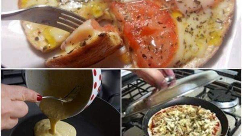 Como fazer pizza de frigideira
