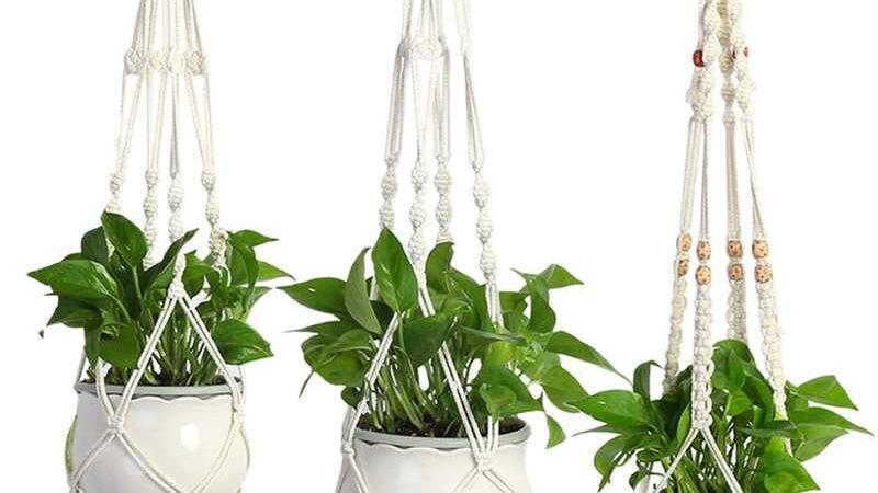 Como fazer macramê para pendurar plantas